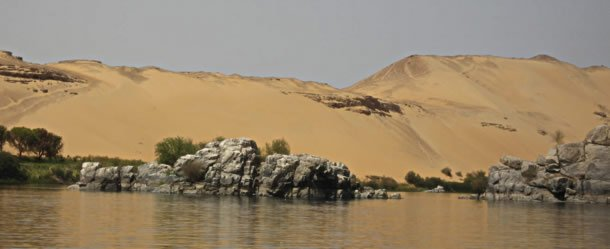 Desert and Nile River