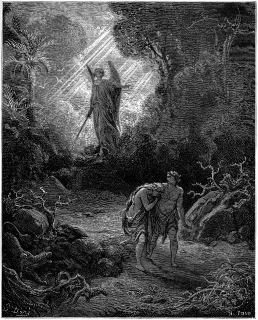 Adam & Even Driven from Eden --Gustave Dore