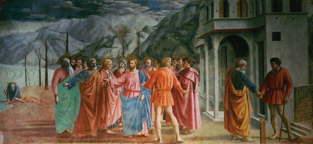 Rendering of the Tribute Money - Masaccio (1401 – 1428)