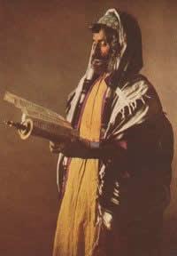 Man with Haluk, Tallit, Kanaf, Tzitzit, and Tfillin (phylactery)