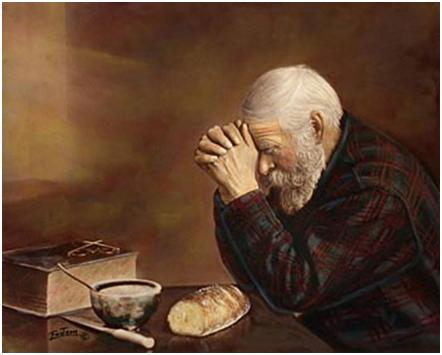 Grace - Old Man Blessing Meal/Praying/Grace