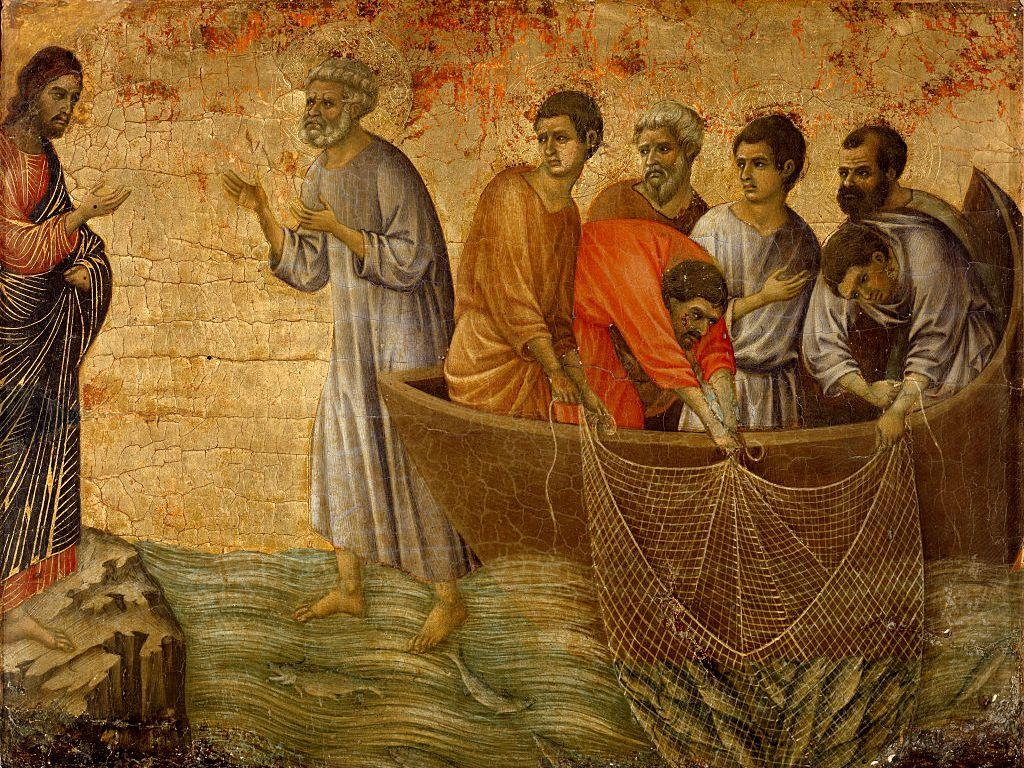 Jesus and the Disciples fishing